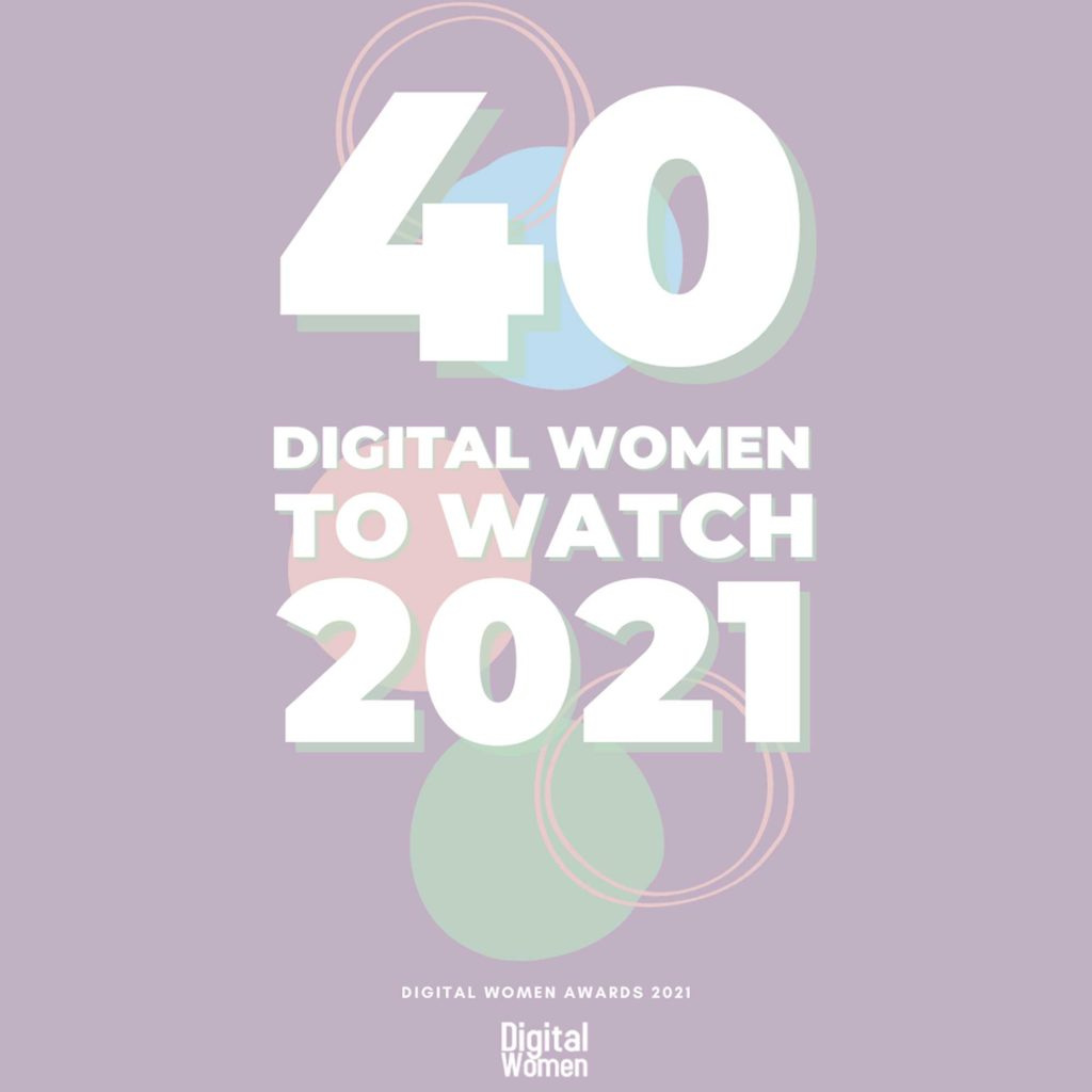 40 Digital Women To Watch In 2021 - Founder of Branding By Tigz, Tigz Rice, is shortlisted for the prestigious title of Digital Woman Of The Year 2021