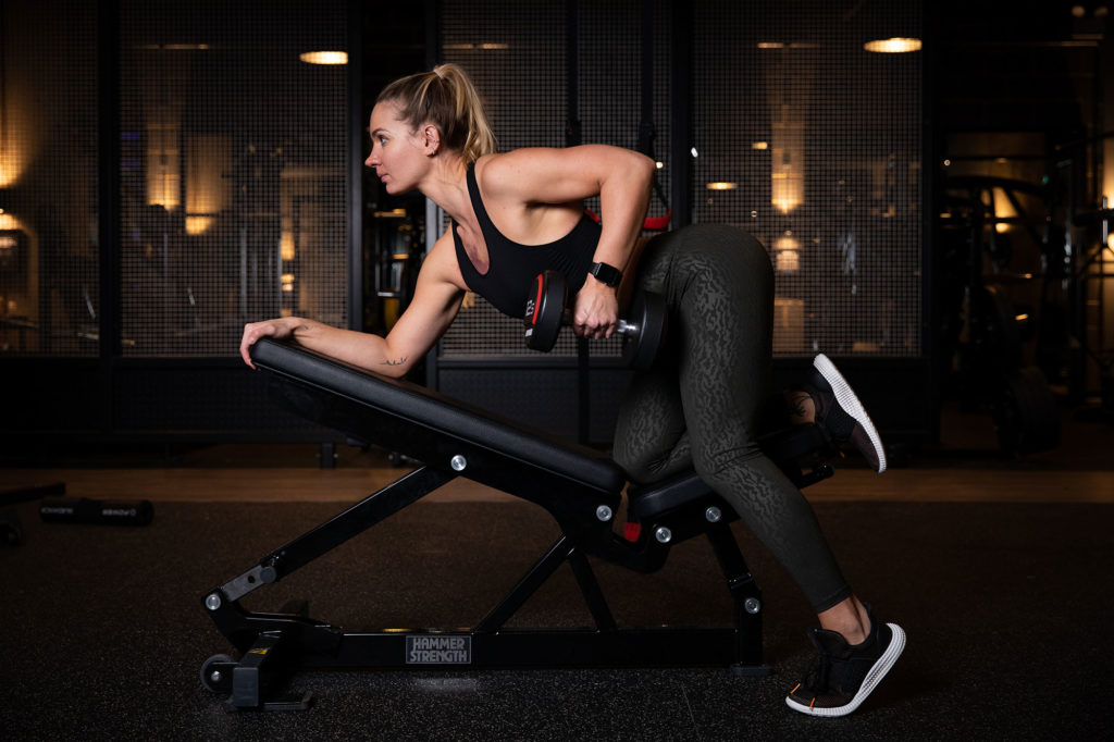 Hertfordshire based Personal Trainer Dovile Leonaviciute poses for her personal branding photoshoot at Rise Gym, Welwyn Garden City